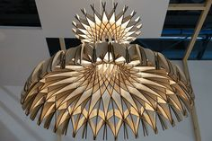 DOME chandelier by Benedetta Tagliabue for Bover. © Archiproducts.com /shadows cast by laser cut design is beautiful