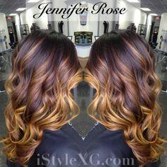 Red caramel ombre | Hair | Pinterest | Caramel ombre ...