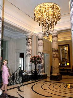 The Langham Hotel Portland Pl, Marylebone, London Langham Hotel, London Hotels, Portland, Chandelier, Ceiling Lights, Lighting, Home Decor, Homemade Home Decor, Decoration Home