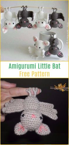 Amigurumi Little Bat Free Pattern-Amigurumi Crochet Bat Free Patterns