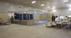 These livestock facilities were built for Rutherford Ranches of Buda, TX  Special Features:    Morton's Hi-Rib Steel  Porches  Cupolas  Fibersteel Wal...