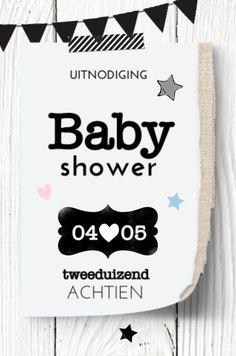 lovz.nl | babyshower uitnodigingskaart | hout en slinger | zelf maken