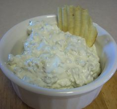 Pickle Dip@homemadebyharper - I made this tonight & @Michael Corns said it is the best dip ever!!