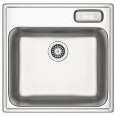 BOHOLMEN Single-bowl inset sink - 56x55 cm - IKEA