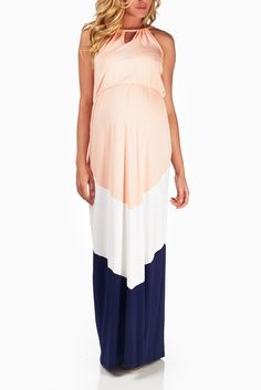 Look at this Pink & Navy Color Block Maternity Maxi Dress by PinkBlush Maternity Maternity Maxi, Pink Blush Maternity, Maternity Fashion, Maternity Outfits, Maternity Style, Summer Maternity Clothes, Maternity Pictures, Pregnancy Looks, Pregnancy Outfits