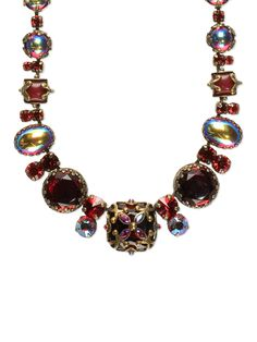 Royal Gem Necklace in Cranberry by Sorrelli