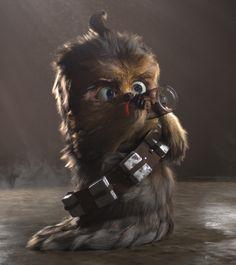 Baby Chewbacca, Thales Simonato on ArtStation at https://www.artstation.com/artwork/2kBaJ