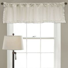 Lace Rod Pocket Curtain Valance