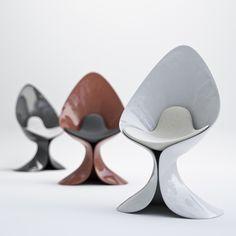 Calla Chair designed by Simone Cappellanti for ZAD Italy. Made of Adamantx.