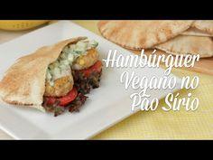 Mini Hambúrguer de Feijão Branco e Quinoa com Molho de Pepino - Presunto Vegetariano