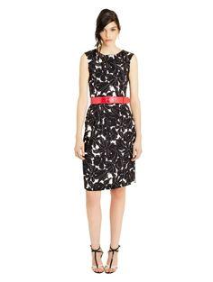 Daisy Sketch Print Stretch-Georgette Shift Dress