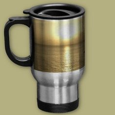 Golden Nautical Sunset over the ocean which totally wraps around the stein. Other styles available.