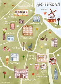 Livi Gosling - Amsterdam map Find similar on www.be-sparkling.com