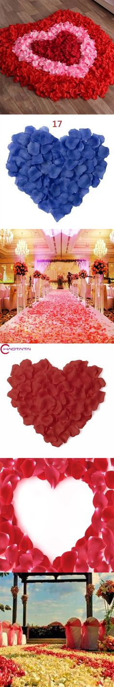 Fashion 2017 New Wholesale 2000pcs/lot Artificial Flowers Polyester Wedding Decorations Wedding Rose Petals patal Flower
