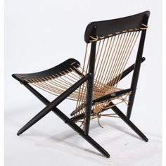 "Rare Pair of 1950s ""Maruni"" Rope Chairs, Japan 