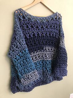 """Use this crochet pattern to make your own """"My First Sweater"""", even if it isn't your first sweater. But if it is, I promise that it is not as hard as it seems, and you will feel so proud and accomplished when you are done. I know I was!"""