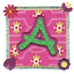 Garden Patch Applique Alphabet