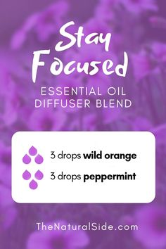 Stay Focused Blend 3 drops wild orange + 3 drops peppermint New to Essential Oils? Searching for Simple Essential Oil Combinations for Diffuser? Check out these 21 Easy Essential Oil Blends and Essential Oil Recipes Perfect for Beginners. Essential Oils For Headaches, Essential Oil Diffuser Blends, Doterra Essential Oils, Aromatherapy Diffuser, Aromatherapy Recipes, Arthritis, Essential Oil Combinations, Oil For Headache, Headache Relief