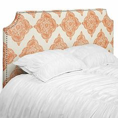 Introducing a new Moroccan tile pattern for Z Gallerie custom headboards! This global pattern is reminiscent of artistic hand block printing. Jane Headboard, $449.00 - $599.00