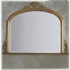 Gold Entrata Overmantle Mirror 120 x 90cm