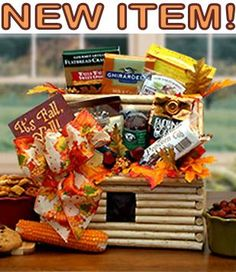NEW ITEM in our AUTUMN GIFT BASKET IDEAS COLLECTION! LOG CABIN AUTUMN GIFT BASKETS filled with SWEET & SAVORY TASTES. Great Housewarming AUTUMN GIFT BASKETS or THANKSGIVING GIFT BASKET IDEAS at http://countrygiftbasketsplus.com/fall-yall-autumn-gift-basket-ideas