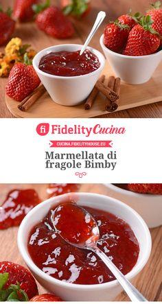 Marmellata di fragole Bimby Chocolate Fondue, Biscotti, Pickles, Jelly, Sweets, Restaurant, Desserts, Food, Anna