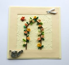 Birthday card - blank card - greeting card - floral card - Roses card - handmade card - feminine card -  uk seller by itsaMessyNest on Etsy