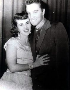 "Elvis w/ Wanda Jackson -Jan '57, Elvis began spending more time in Hollywood. ""I never foolishly believed I was Elvis' only girl,"" Ms. Jackson confessed. ""I wasn't in love with Elvis. I thought the world of him. I had a crush on him. And that was it."" What was Presley's most attractive feature? ""Oh, his eyes,"" Ms. Jackson said, closing her own. ""They were all smoky and smoldering."" Was he a good kisser? ""Yeah,"" she said softly, dragging out the word. ""Had to be if I was going to go with…"