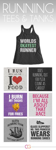 World's okayest runner lol Customize your own funny running tee or tank for #nationalrunningday or just because it's funny.