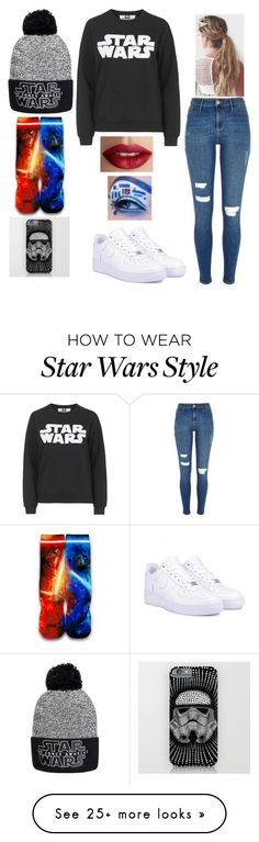 """Star Wars!!!"" by faithchapman678 on Polyvore featuring Tee and Cake, River Island, NIKE and TheBalm"