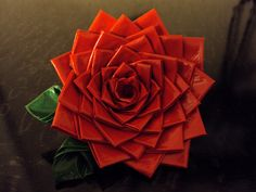 How to make Duct Tape roses...genius!