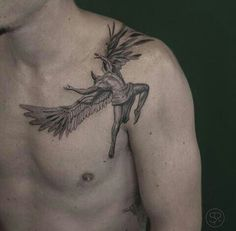 Fall of Icarus (artist and date unknown) Not only was the story of Icarus present in painting and drawings, tattoos were also used to tell his story. Tattoos can be used as another form of artistic expression. This also helps to show how Ovid's story is still being told and remebered in modern times.