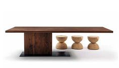 """Dining Table 06036 Dimensions:  79""""/87""""/94.5""""/102.5""""/110.25"""" x 39.5"""" or 43.5"""" x 29""""H Material:   Metal, wood. Finish:   Oak, cherry, maple or walnut. Usonahome"""