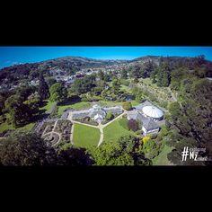 Dunedin Botanic Gardens from above.