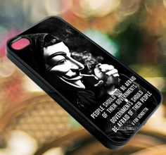 Vendetta quotes   iPhone 4/4s/5/5s/5c Case  Samsung by diemondHard, $15.00