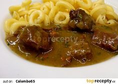 Czech Recipes, Ethnic Recipes, No Salt Recipes, Stew, Macaroni And Cheese, Spaghetti, Food And Drink, Menu, Chicken