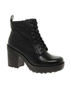 0aa6d348171074 Image 1 of Vagabond Libby Platform Lace Up Ankle Boots Wolle Kaufen