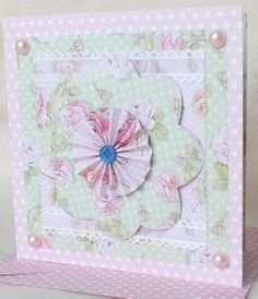 Pink Cupcake Card using Dovecraft