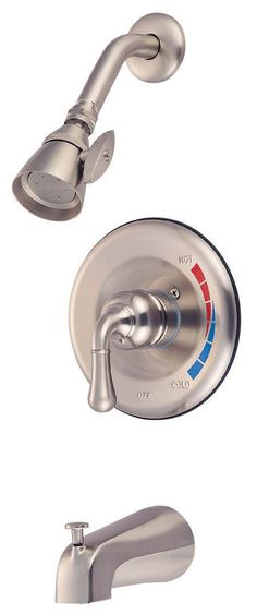 Kingston Brass GKB638T Water Saving Magellan Tub and Shower Trim, Satin Nickel