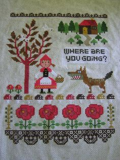 Little Red https://www.superbuzzy.com/shop/product/gera-cross-stitch-little-red-riding-hood/ This could make me start cross stitching again....