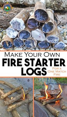 Make Your Own Fire Starter Logs - Have trouble getting a campfire to stay lit when you are camping? Make your own fire starter logs for a one match fire each time. These are cheap and easy to make with supplies you probably already have on hand. Camping Bedarf, Camping With Kids, Family Camping, Outdoor Camping, Camping Hacks, Glamping, Camping Ideas, Camping Essentials, Camping Cabins