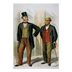 """Zwei viktorianische Herren"" Vintag Plakatdrucke"