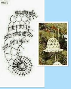 Campanella Crochet Christmas Ornaments, Christmas Star, Christmas Bells, Christmas Decorations, Xmas, Crochet Angels, Crochet Flowers, Doilies, Crochet Patterns