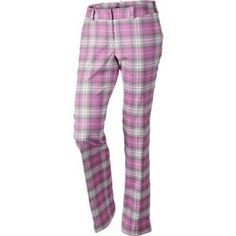Are you into plaid patterns? Check out our new Plaid Nike Ladies Modern Rise Tartan Golf Pants now! Plaid Golf Pants, Tartan Pants, Golf Attire, Golf Outfit, Golf Shop, Golf Fashion, Nike Fashion, Pants For Women, Clothes For Women