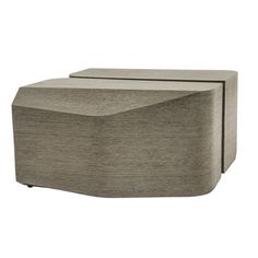 McGuire Furniture: Steven Volpe Cubica Cocktail Table: 963ggg