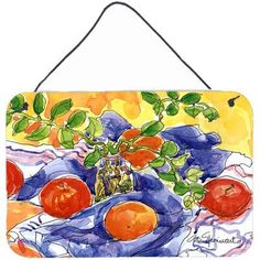 Caroline's Treasures Apples by Coe Steinwart Painting Print Plaque