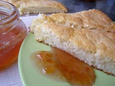 Mennonite Girls Can Cook: Coconut Scones with Rhubarb Jam. this is the jam recipe
