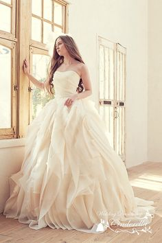 Vestido de novia corte princesa | bodatotal.com | wedding dress, ball gown, princess gown, bride