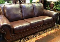One hundred percent leather, not only made in America but made right here in Texas! Our United Carnegie sofa group gives you the impeccable quality and styling only United can offer! #comfort #seating #lounging #indoor #houston #furniture  #Made_In_America | Houston TX | Gallery Furniture |