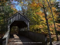 Covered bridge at Devil's Hopyard State Park - East Haddam, CT